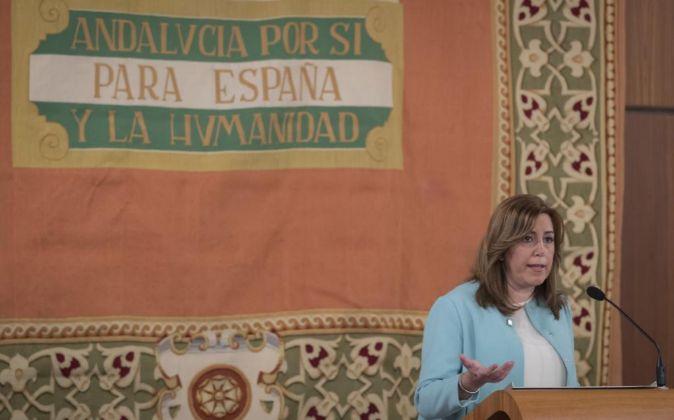 La presienta de la Junta de Andalucía Susana Díaz.