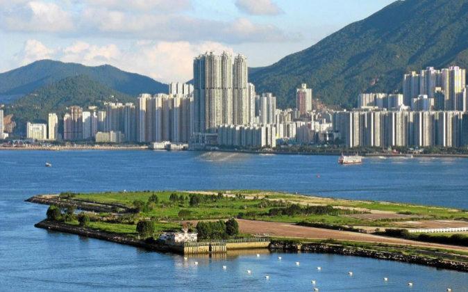 Fotografía de archivo del puerto de Hong Kong.