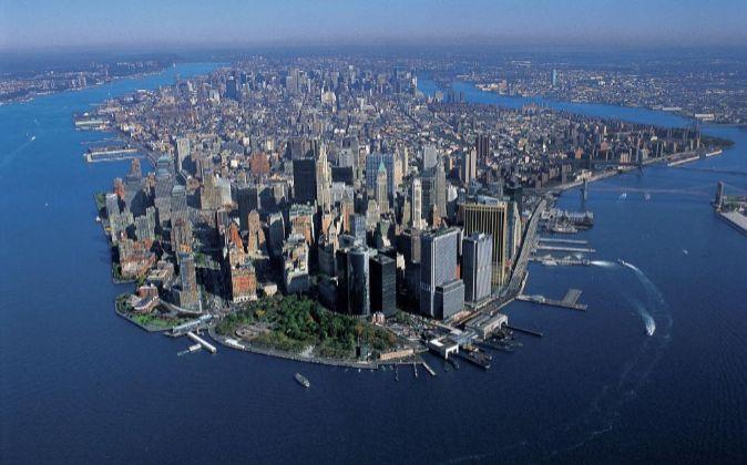 Vista aérea de Manhattan.