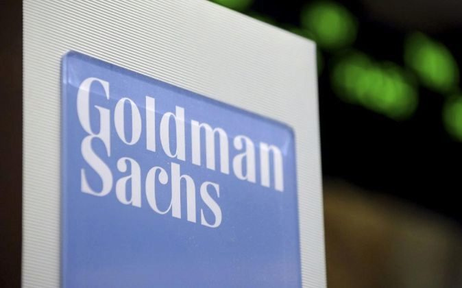 Letrero de Goldman Sachs.