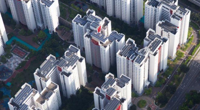 Edificios con paneles solares de Apple en Singapur