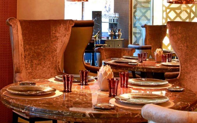 Salón principal de Coque, el restaurante situado en Humanes (Madrid).