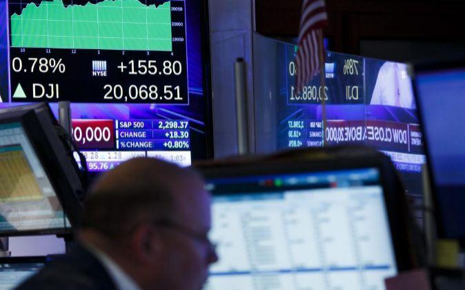 Interior de la Bolsa de Valores de Nueva York.