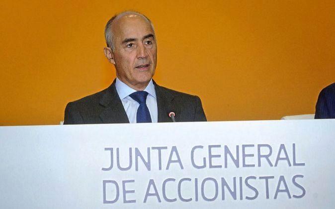 Rafael del Pino en la junta de accionistas de Ferrovial.
