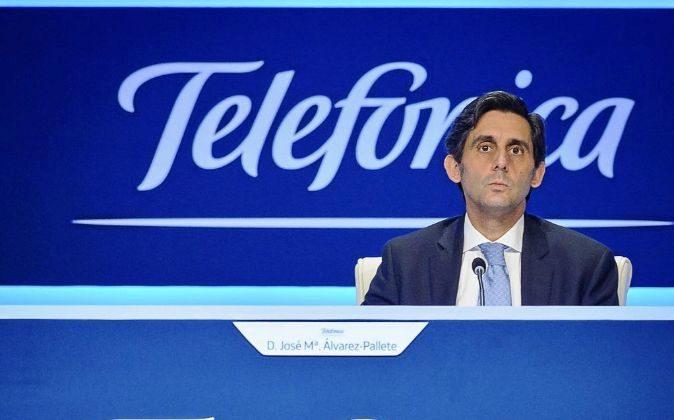José María Álvarez-Pallete, CEO de Telefónica, en la Junta de...