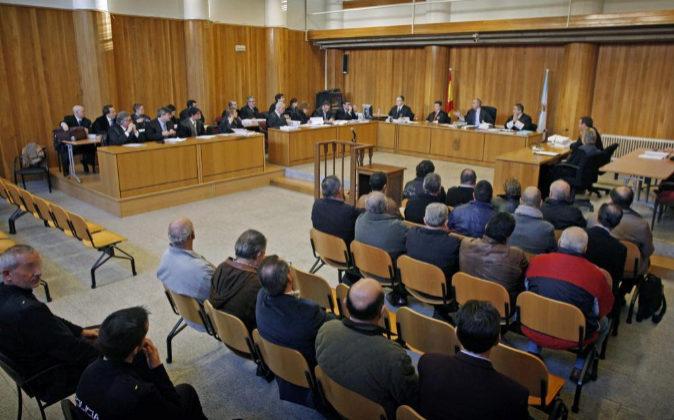 Imagen de una de las salas de la Audiencia Provincial de La Coruña.