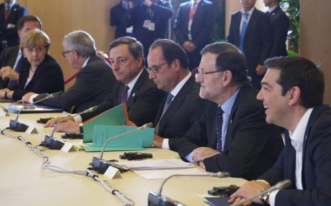 Angela Merkel, Jean Claude Juncker, Mario Draghi, François Hollande,...