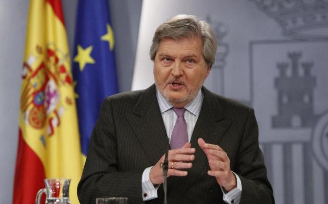 El portavoz del Gobierno, Íñigo Méndez de Vigo, tras el Consejo de...