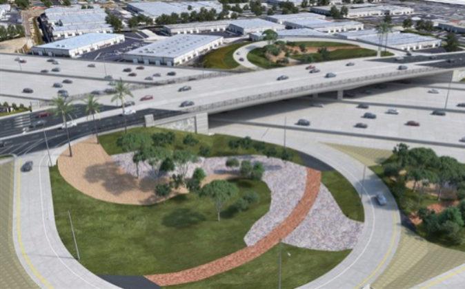 Imágen del proyecto de mejora de la I-405, en California. Fuente: OHL