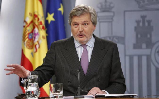 Íñigo Méndez de Vigo, ministro portavoz del Gobierno, durante una...