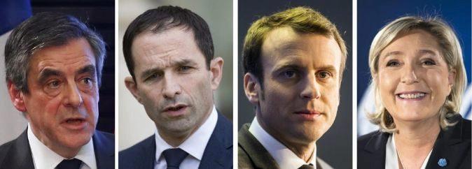 Los candidatos a las elecciones presidenciales de 2017. (De izq. a...