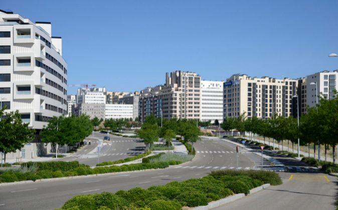 Viviendas en el barrio de Valdebebas (Madrid).