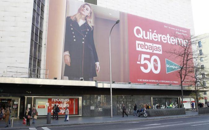 Centro comercial de El Corte Inglés en la calle Goya (Madrid).