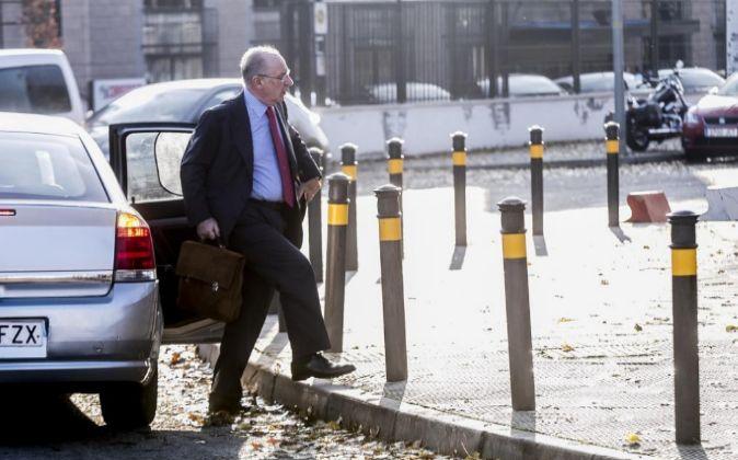 Rodrigo Rato, a su llegada a la Audiencia Nacional por el juicio de...