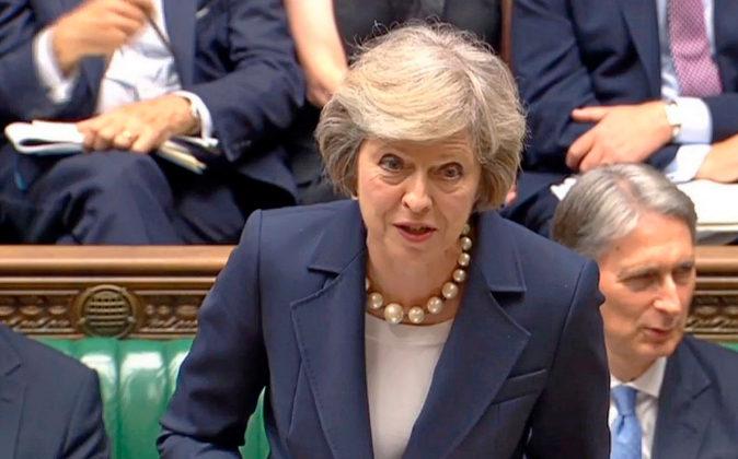 La primera ministra británica, Theresa May, en una imagen de archivo...