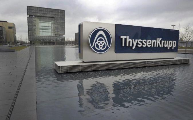 Vista general de la sede del grupo alemán ThyssenKrupp en Essen,...