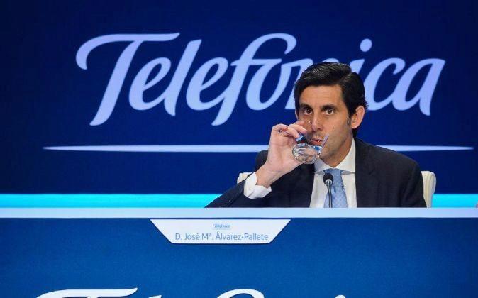 José María Álvarez Pallete es el presidente de Telefónica.