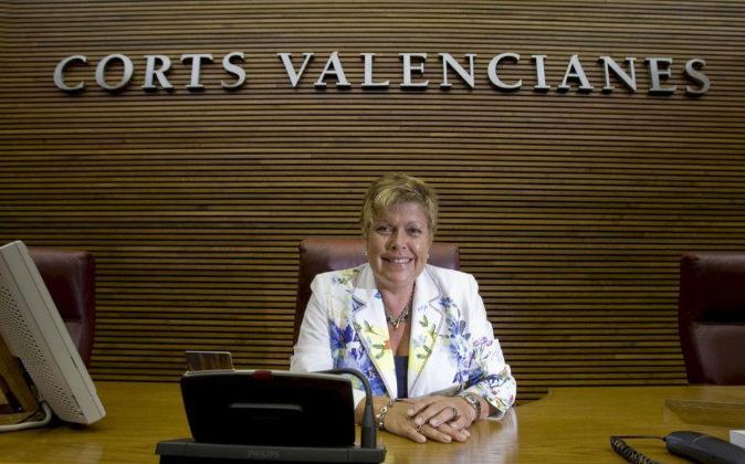 La expresidenta de Les Corts Valencianes, Milagrosa Martínez, en una...