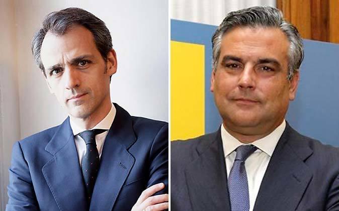 Isaac Martín (a la izquierda) futuro presidente de Ineco y Jesús...