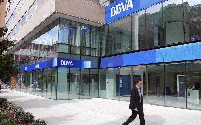 Sucursal de BBVA en la calle Orense de Madrid.