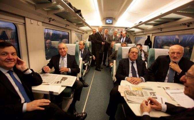 Empresarios valencianos, de camino al encuentro en Tarragona.