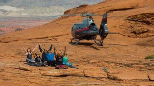 La experiencia incluye el traslado en helicóptero a una montaña del...