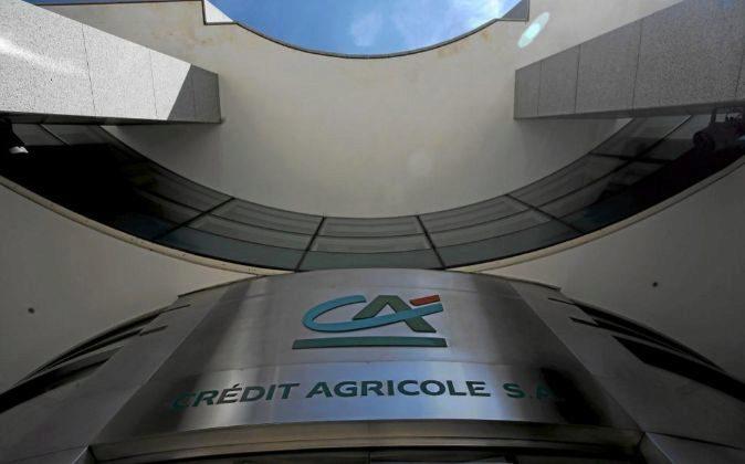 Vista de la sede de Crédit Agricole en París.