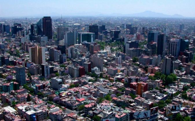 Vista aérea de la capital de México, el país con el porcentaje más...