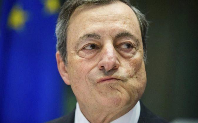El presidente del Banco Central Europeo (BCE), Mario Draghi durante...