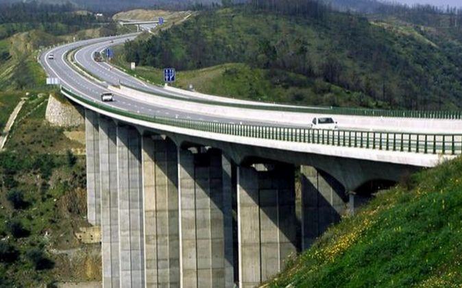 Autopista Beira Interior en Abrantes (Portugal)