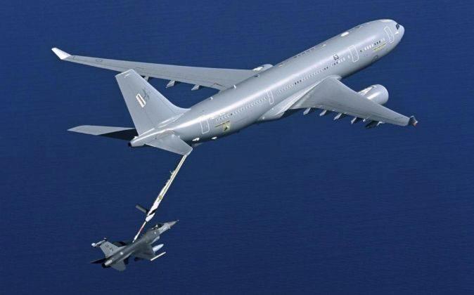 Imagen sin fechar facilitada por Airbus que muestra un Airbus A330...