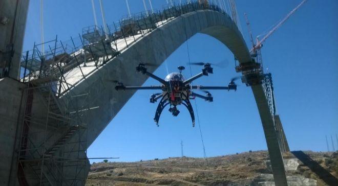 """Drones usados por Copisa para inspeccionar las obras de """"viaducto..."""