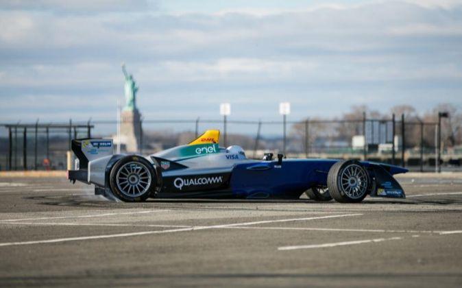 Monoplaza de Fórmula E.