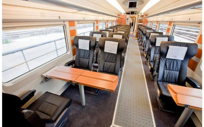 Imagen del interior de un tren AVE.