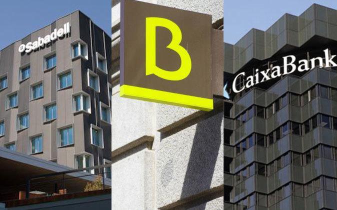 Sabadell, Bankia y CaixaBank lideran la reducción de préstamos...