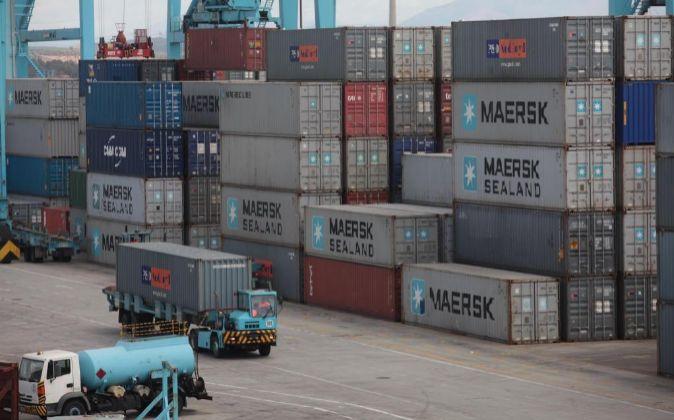 Contenedores en el puerto de Algeciras.