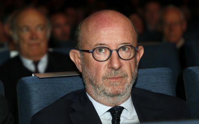 Emilio Saracho, nuevo presidente de Popular, ayer en la junta de...
