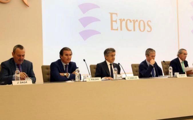 "JUNTA DE ACCIONISTAS DE ""ERCROS"" ANTONI ZABALZA BARCELONA 29..."