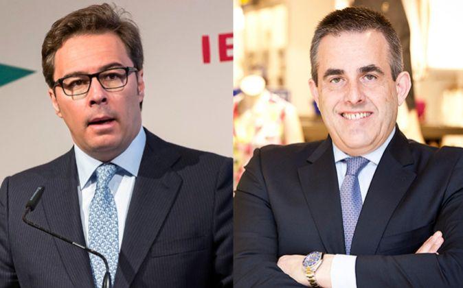 Dimas Gimeno, presidente de El Corte Inglés, y Víctor del...