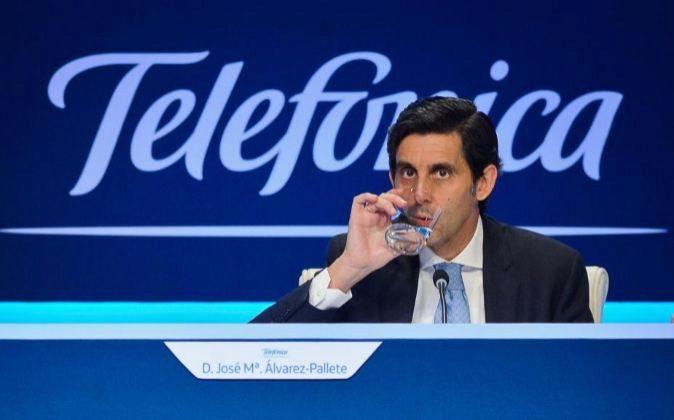 El presidente de Telefónica, José María Álvarez Pallete
