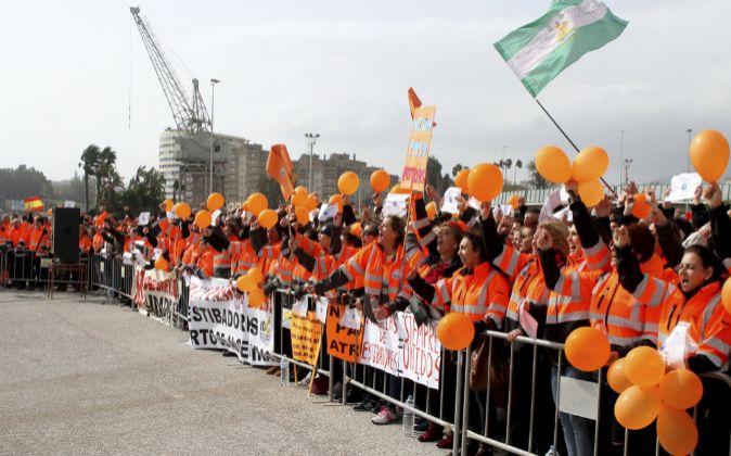 Protestas de los estibadores