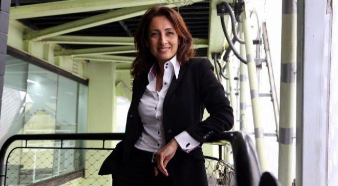 Therese Jamaa, directora general del GSMA, en el edificio Media-TIC...
