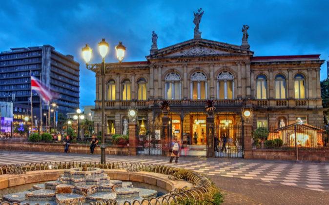 Teatro Nacional de San José, capital de Costa Rica.