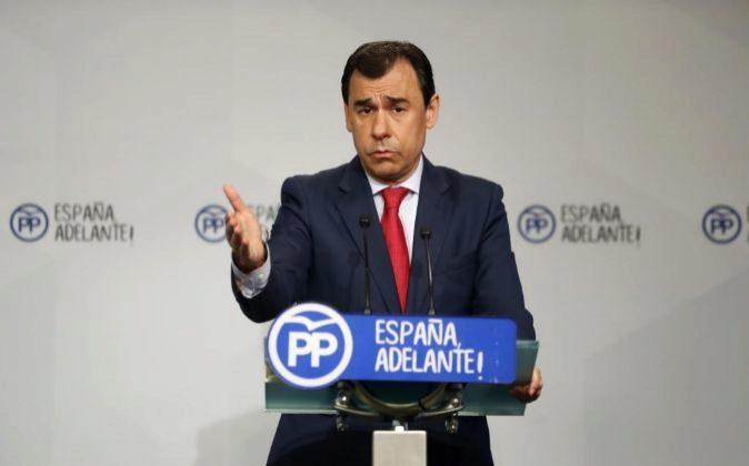 El coordinador general del Partido Popular, Fernando Martínez-Maillo,...