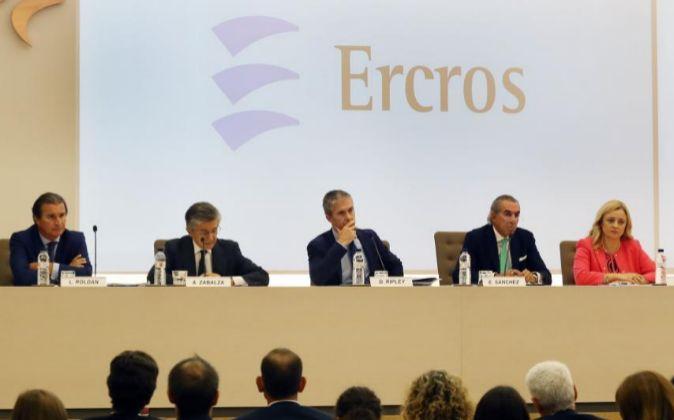 Junta de accionistas de Ercros, en septiembre de 2016.