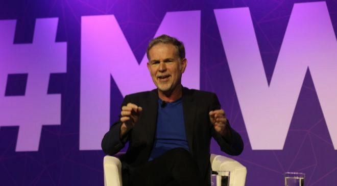Reed Hastings, CEO de Netflix, ayer en el MWC de Barcelona.