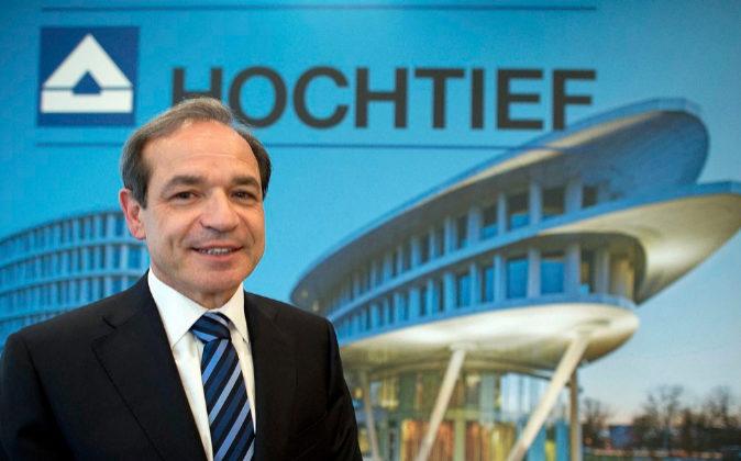 El presidente de Hochtief, Marcelino Fernández Verdes.