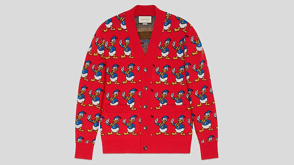 Cárdigan de lana de jacquard de Pato Donald  1.200 euros.