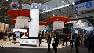 Stand de Vodafone en el Mobile World Congress de Barcelona.