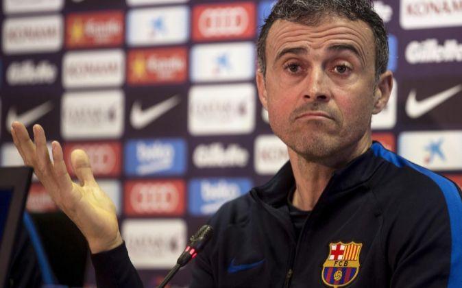 El entrenador del FC Barcelona, Luis Enrique.